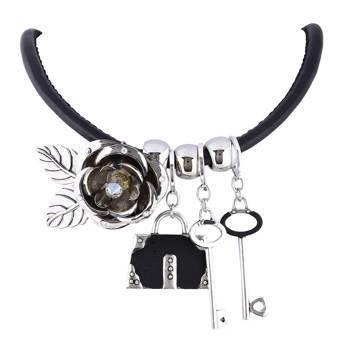 Naszyjnik na kłódkę srebrny