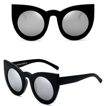Okulary MIAU przeciwsłoneczne czarne lustrzanki