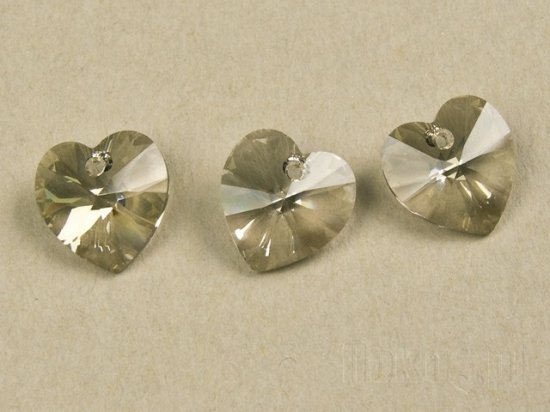 SWAROVSKI SILVER SHADOW  6228 6202 14 mm HEART